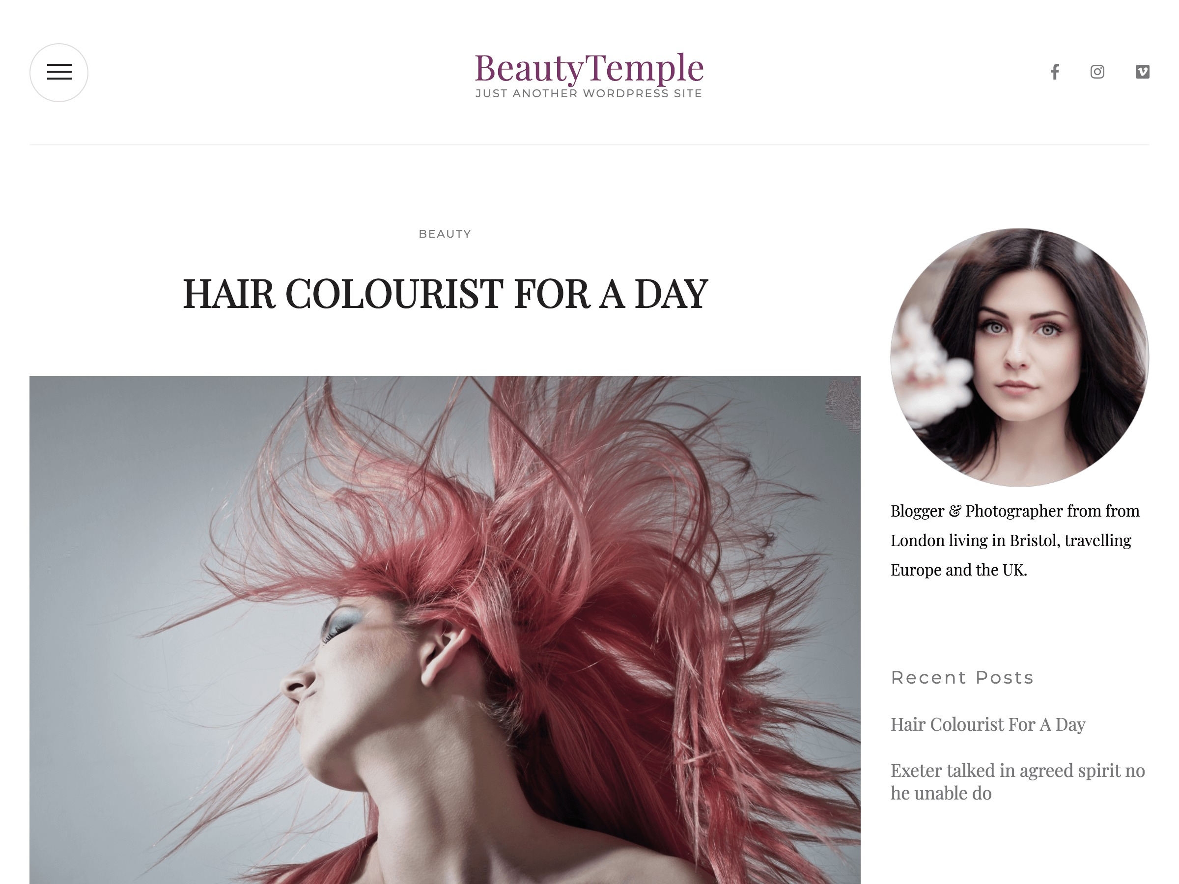 BeautyTemple theme free download