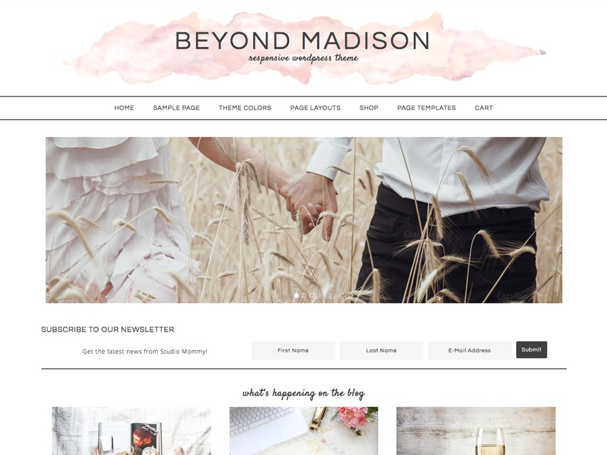 Best WordPress template Beyond Madison Theme