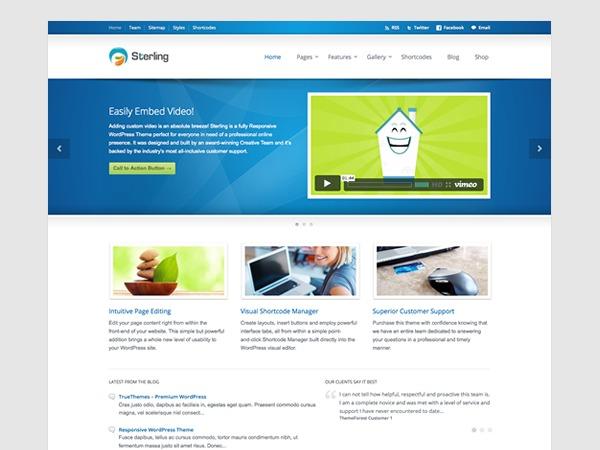 Best WordPress template Sterling (Share on Theme123.Net)