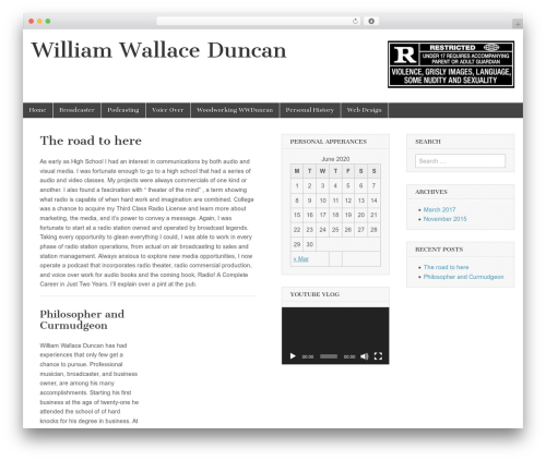 Best WordPress theme Magazine Basic - williamwduncan.com