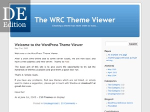 Best WordPress theme WordPress Standard DE-Edition