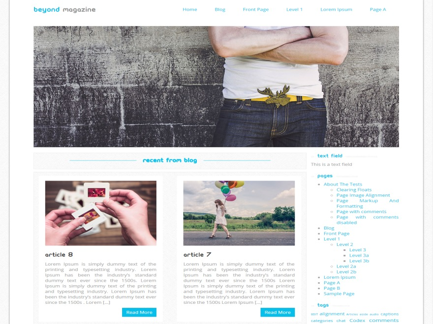 Beyond Magazine WordPress news template
