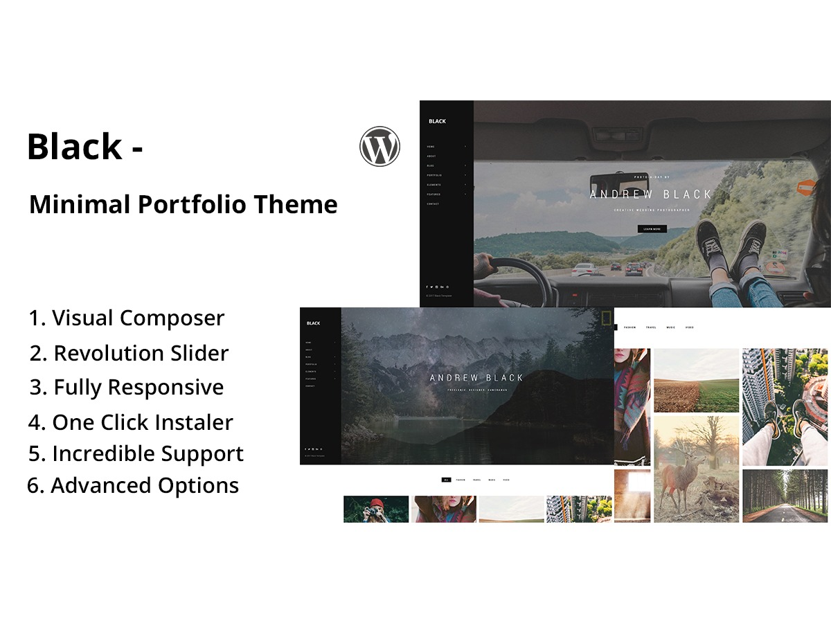 Black best WordPress template
