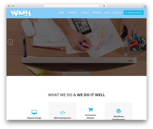 Bridge top WordPress theme - webmastershisar.com