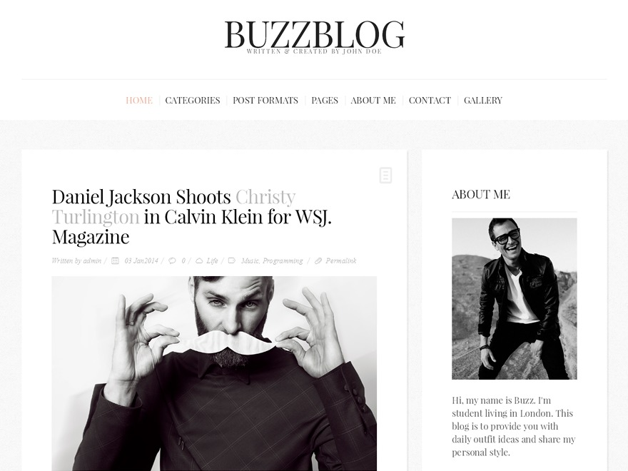 BuzzBlog (Share on Theme123.Net) WordPress blog theme