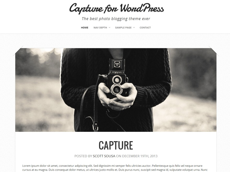 Capture Child THEME best WordPress video theme