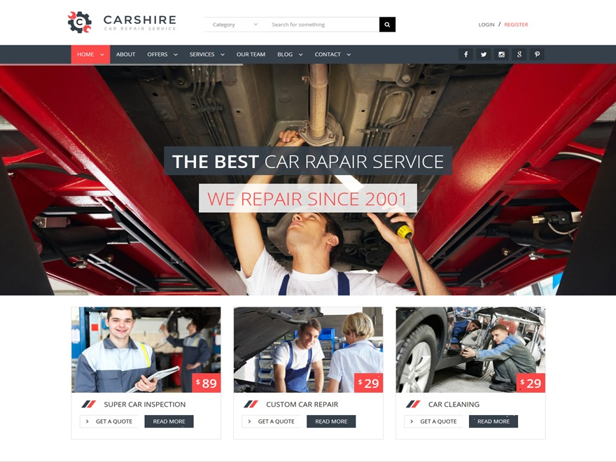 Carshire Child WordPress store theme