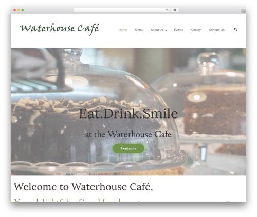Chateau best restaurant WordPress theme - waterhousecafe.co.uk