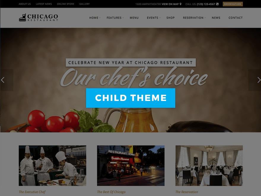 Chicago Restaurant Child best restaurant WordPress theme