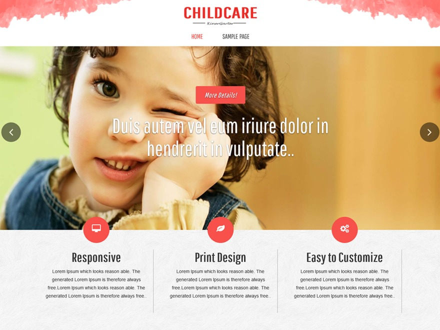 childcare company WordPress theme