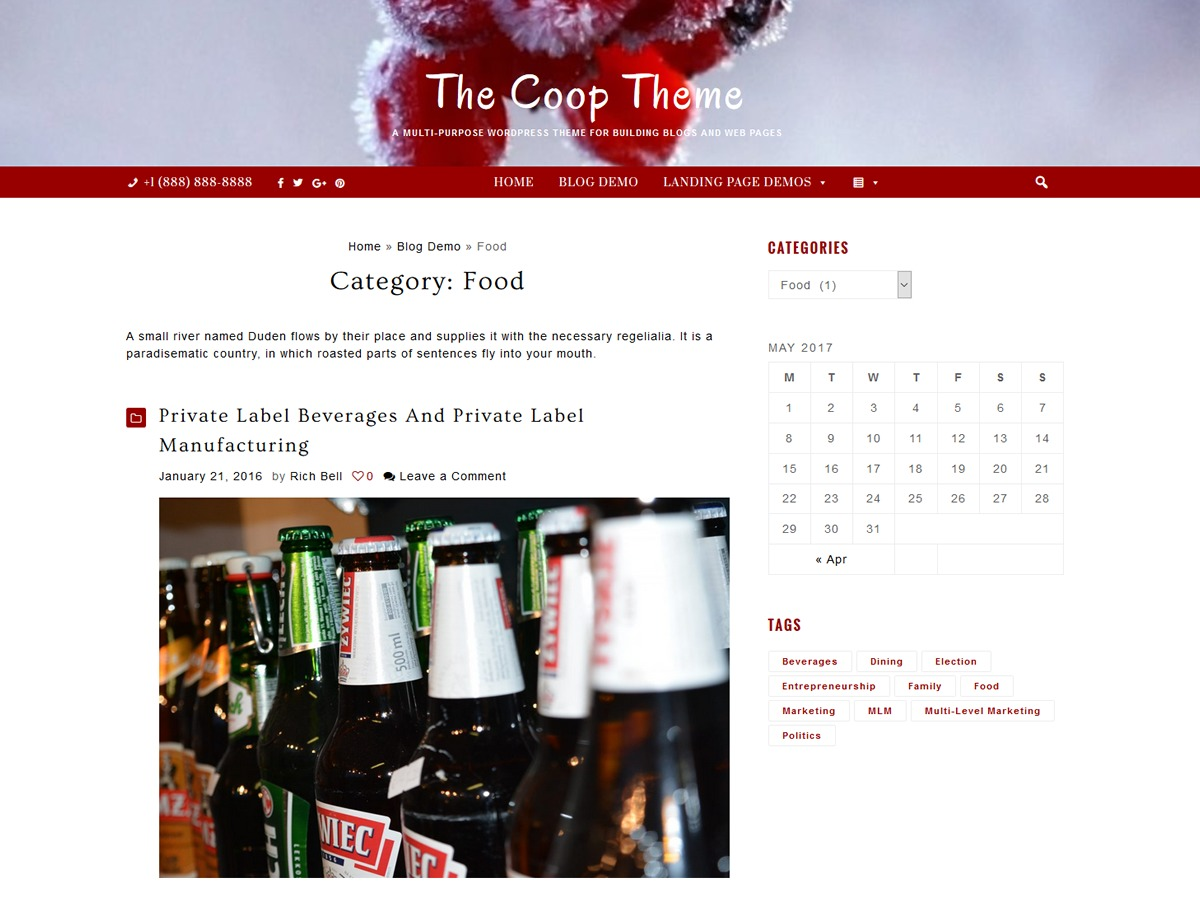 Coop free website theme