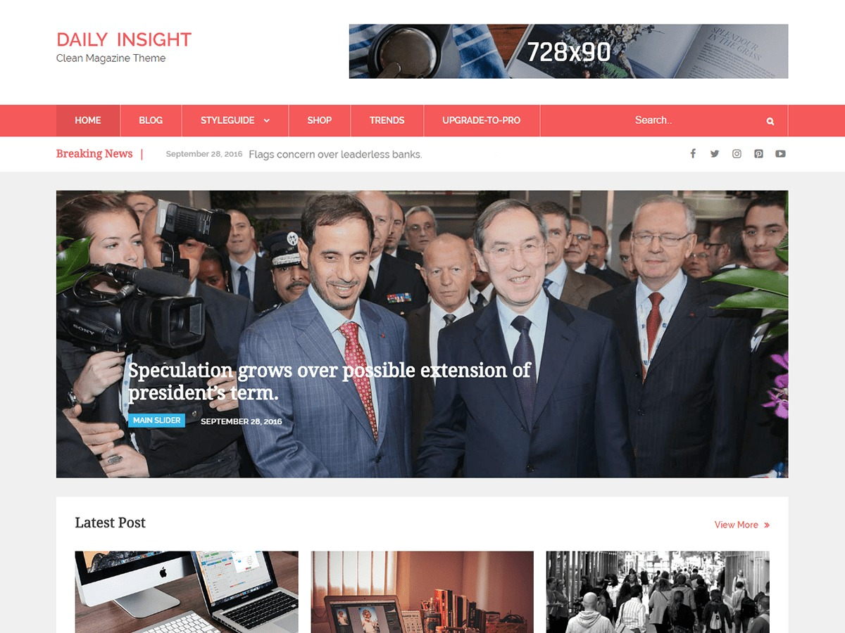 Daily Insight free WordPress theme