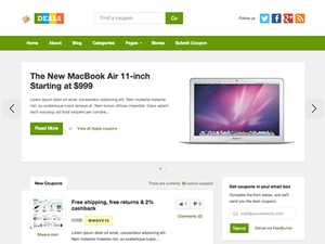 Deals WordPress website template