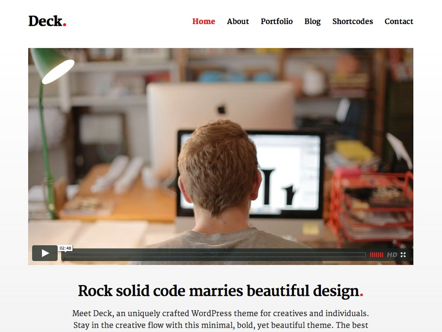 Deck Pro template WordPress