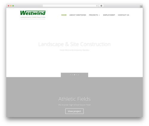 Divi WordPress theme - westwindlandscape.com