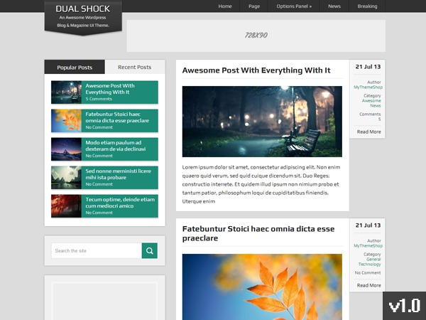 DualShock by MyThemeShop WordPress shop theme
