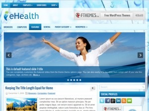 eHealth WordPress blog template