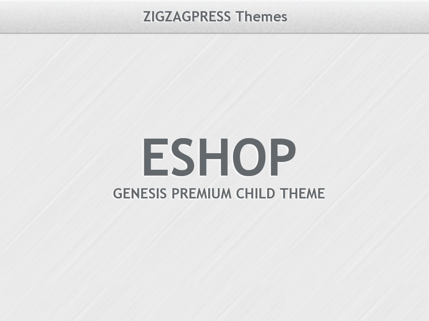 Eshop WordPress ecommerce template