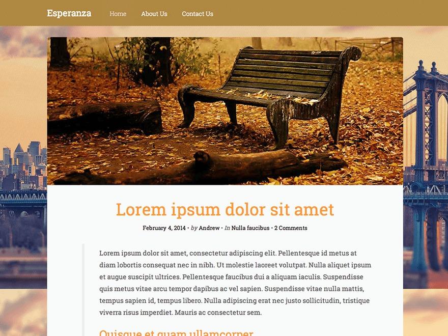 Esperanza Lite WordPress blog theme