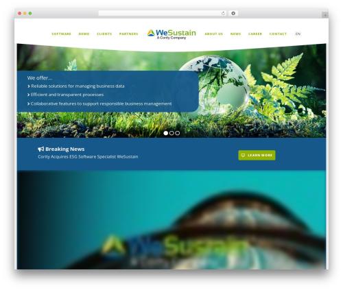 EXO Theme WordPress page template - wesustain.com