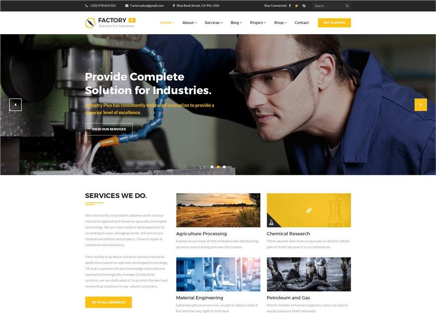 FactoryPlus business WordPress theme