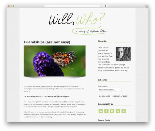Genesis WordPress blog template - willwho.com