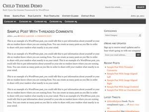 Georgia Child Theme premium WordPress theme