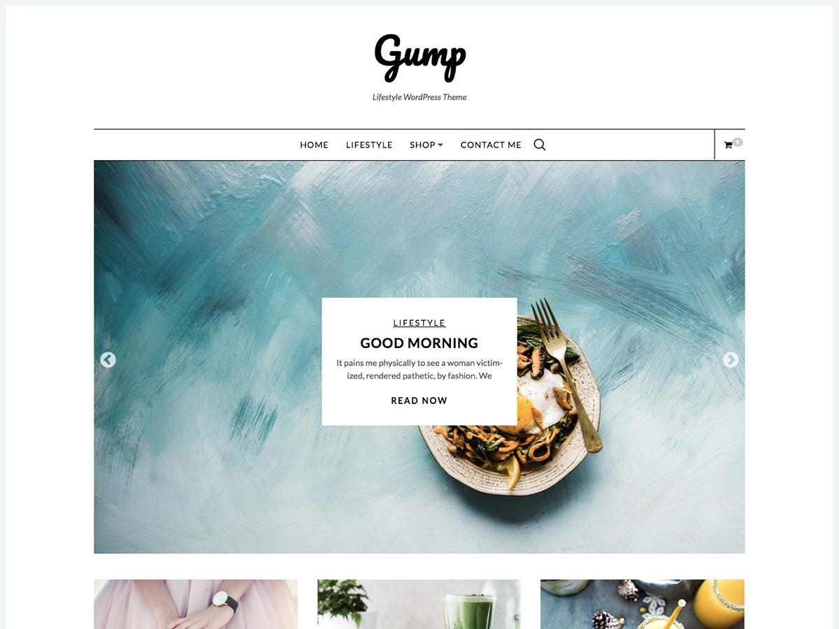 Gump WordPress template free