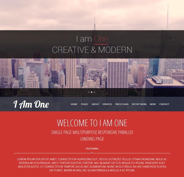 I Am One Pro photography WordPress theme