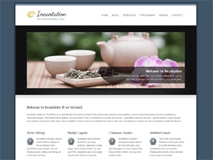 Incantation WordPress blog template