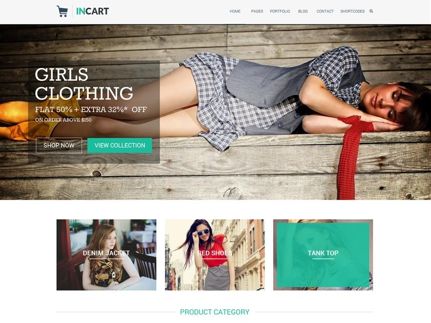 Incart WordPress website template