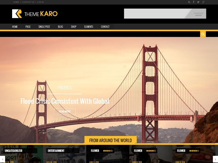Karo Light newspaper WordPress theme