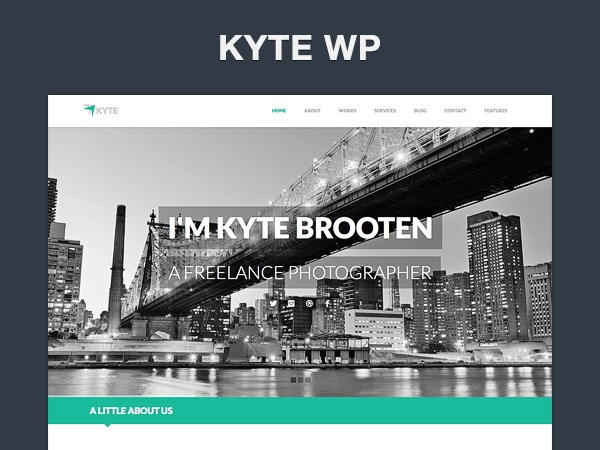Kyte theme WordPress portfolio