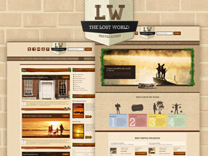 Lost World WordPress template for photographers