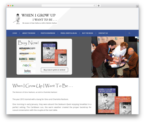 Mega Project WordPress theme - whenigrowupginonarboni.com