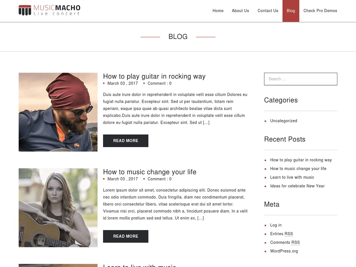 MusicMacho best WooCommerce theme