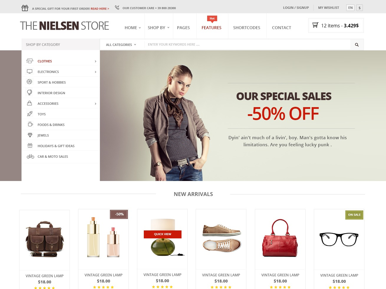 Nielsen Child WordPress shop theme