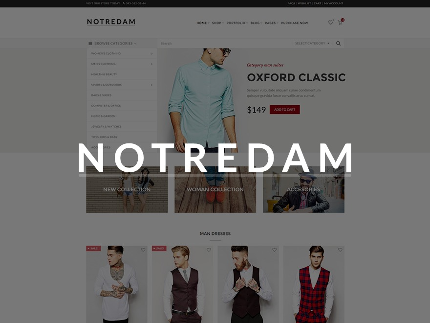 Notredam best WordPress template