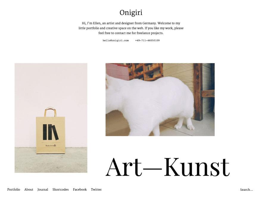 Onigiri newspaper WordPress theme