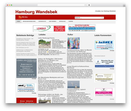 Producer theme WordPress - wandsbek-hh.de