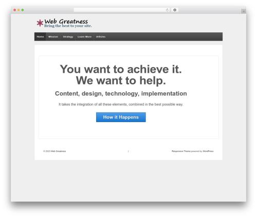 Responsive WordPress page template - webgreatness.com