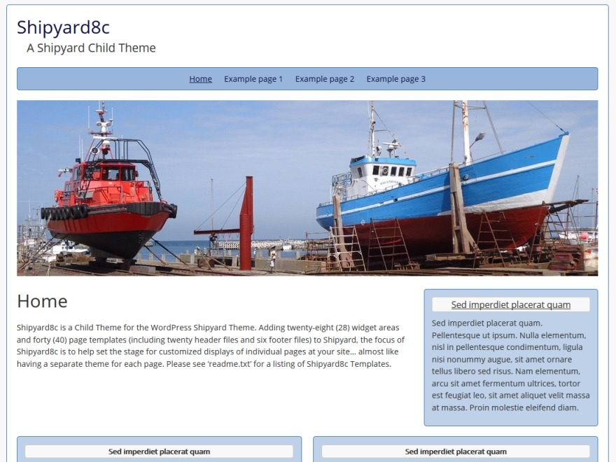 Shipyard8c free WordPress theme