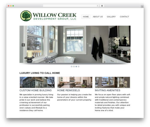 Simplicity WordPress theme design - willowcreekdevelopmentgroup.com