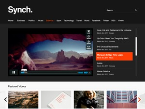 Synch WordPress video template
