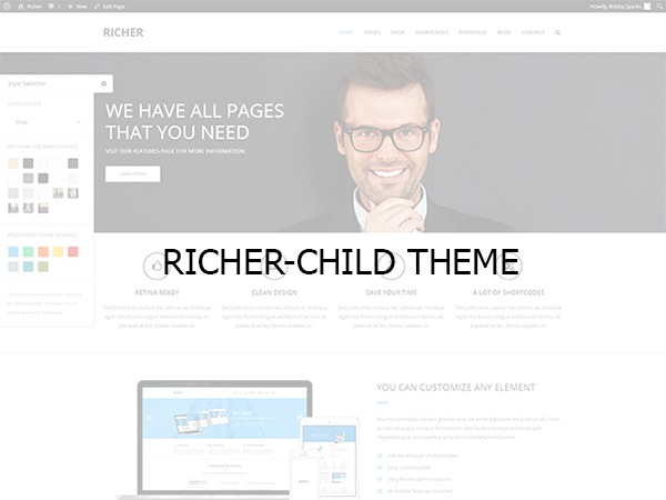 Template WordPress Richer child theme