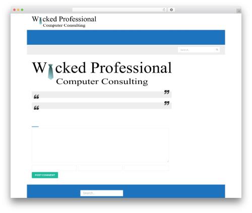 The Next free WordPress theme - wickedprofessional.com