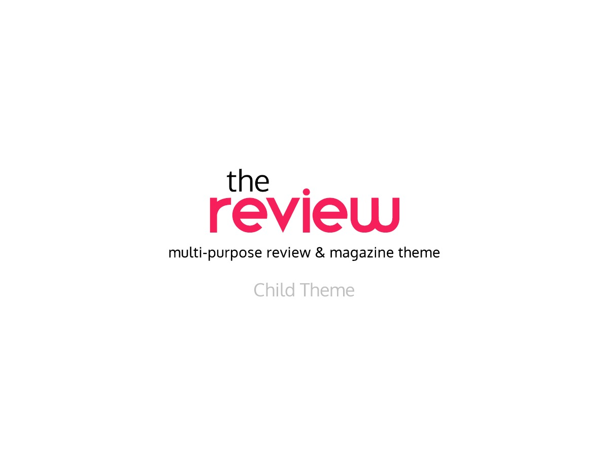 The Review Child WordPress page template