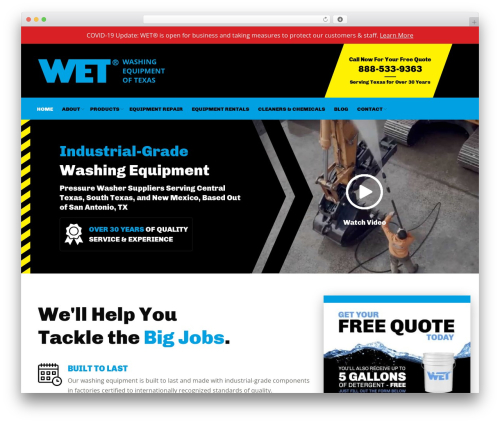 The7.2 WordPress theme - wet-inc.com