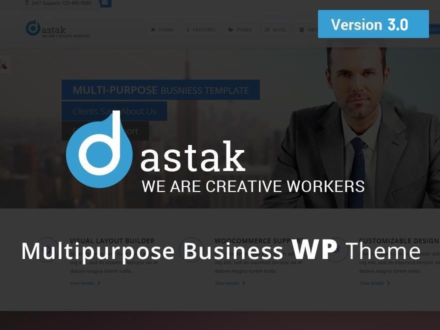 Theme WordPress Dastak