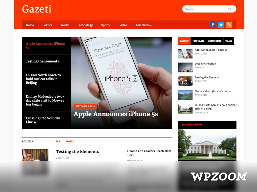 Theme WordPress Gazeti